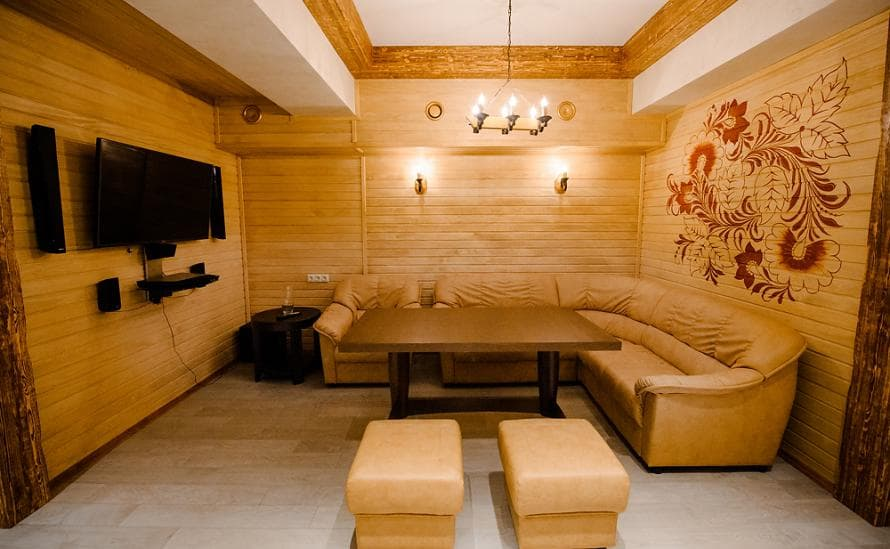 Зона отдыха в бане отеля HELIOPARK Residence