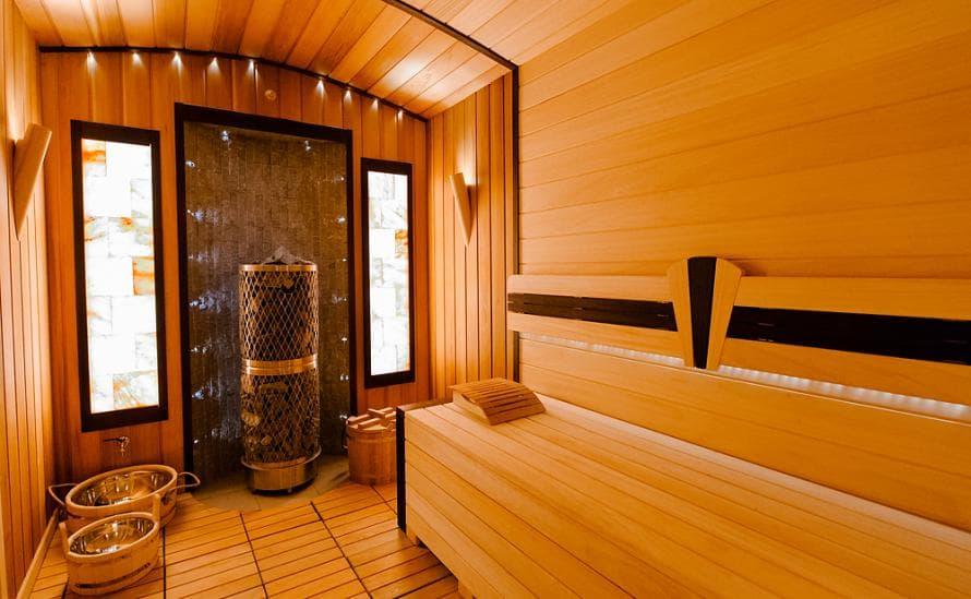 Баня в отеле HELIOPARK Residence